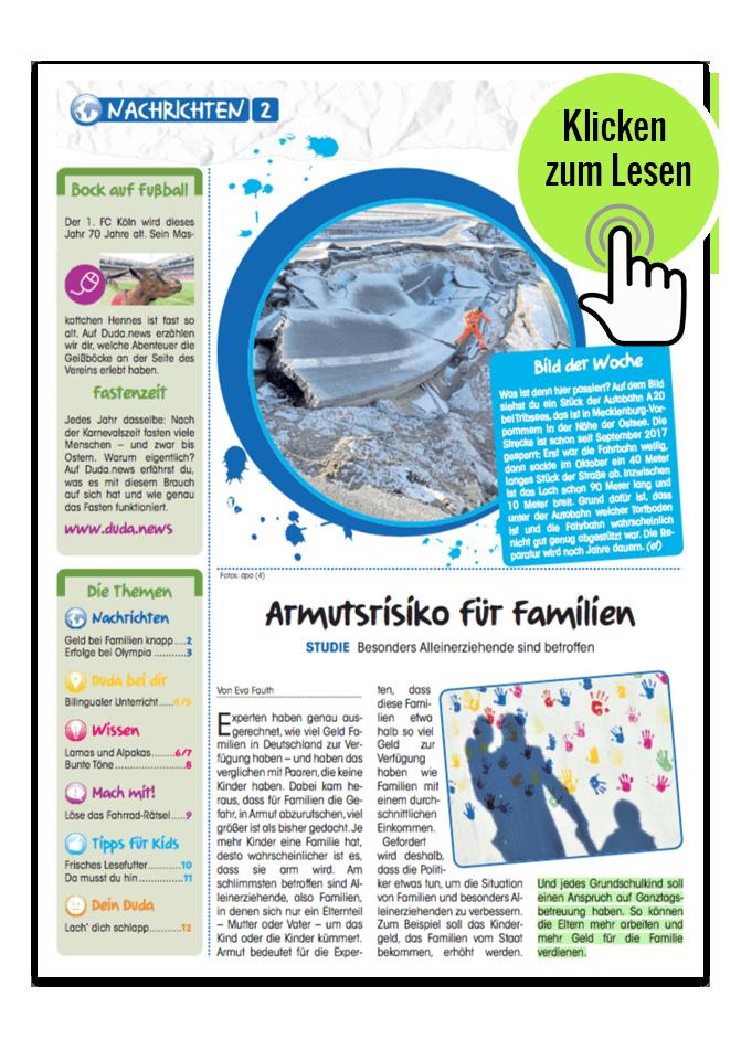 Duda, Deine Zeitung: Kinderzeitung – Wissen, das Spass macht